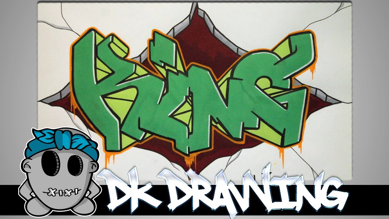 Graffiti speed drawing 5 letters king youtube