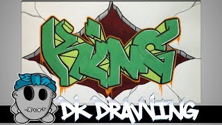 Graffiti Speed Drawing #5 - Letters King