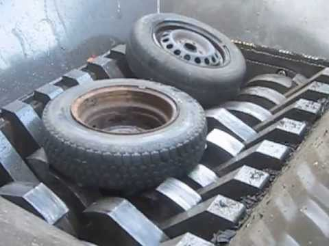 Zerkleinerung von PKW  Reifen