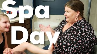 Autistic Girl's Spa Day With Mom (and a guys day)