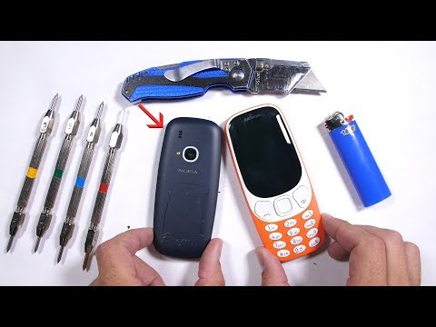 NEW Nokia 3310 Durability Test - 2017 Edition