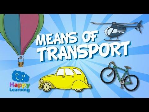Aprende inglés. Los Medios de Transporte en Inglés   Videos Educativos para Niños