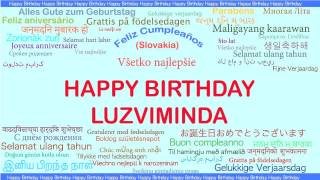Luzviminda   Languages Idiomas - Happy Birthday