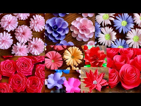 10-simple-and-beautiful-paper-flowers---paper-craft---diy-flowers---home-decor