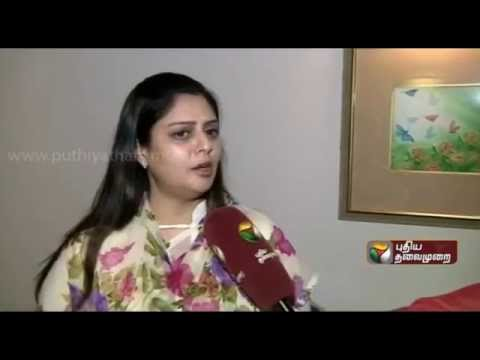 Nagma's exclusive interview to Puthiyathalaimurai