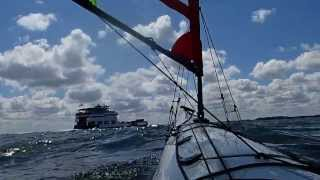 Kayak Sailing with Falcon Sails - Lake Erie with Patrick and Jeff. Thumbnail
