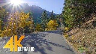 4K Scenic Fall Drive Relax Video - 5 Hours Autumn Road Drive with Relaxing Music