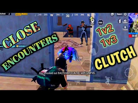 Close encounters in pubg mobile   1v2 & 1v3 clutches   one plus7 device