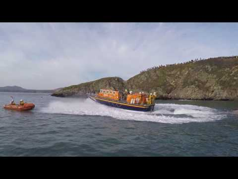 RNLI St Davids Lifeboat 'Garside' Final Launch from St Justinian