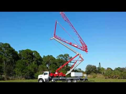 FOR SALE MANITOWOC S282 $99,500 TRUCK MOUNTED TOWER CRANE