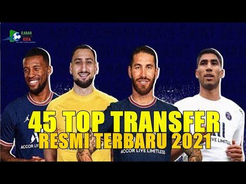 45 TOP TRANSFER RESMI TERBARU | BURSA TRANSFER PEMAIN EROPA 2021