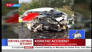 6 people killed, 9 injured as matatu collides head on with truck along Kericho-Nakuru road