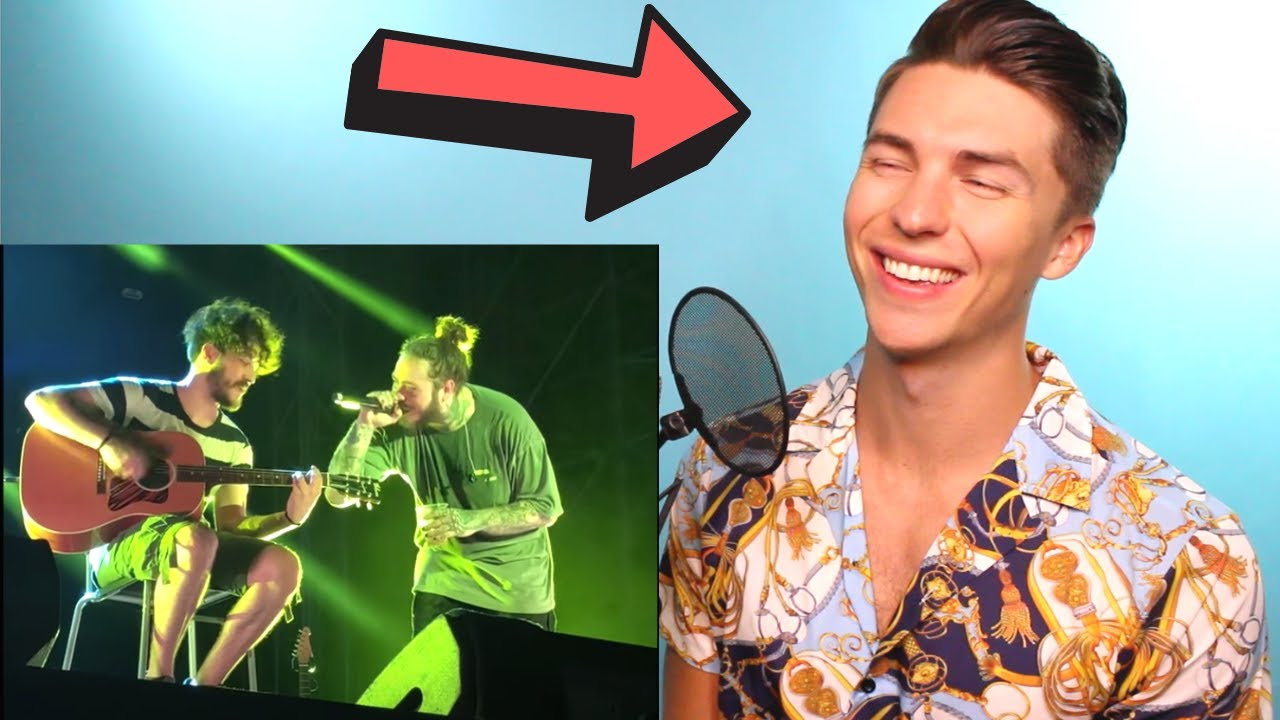 """VOCAL COACH Justin Reacts to POST MALONE Singing WITHOUT Autotune - """"Stay"""" Live w/ a fan"""