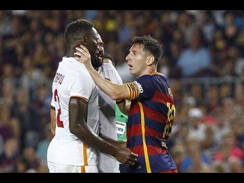 Lionel Messi Headbutt and Choked Mapou Yanga in Barcelona vs. AS Roma