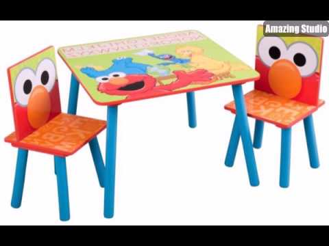bunte lustige kinderm bel ein tisch und zwei st hle youtube. Black Bedroom Furniture Sets. Home Design Ideas