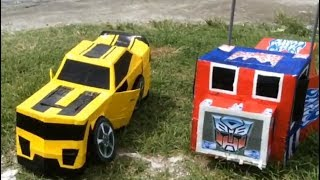 Bumblebee Optimus Prime Costume Best for Halloween Costume DIY Cardboard Transformers
