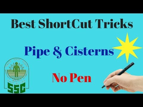 Pipe And Cisterns Problems Tricks In Hindi