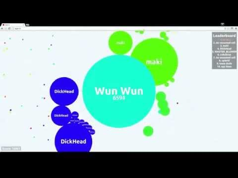 Agar.io - Dominating the server until the very end