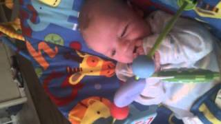 my bubba talking away to his toys!