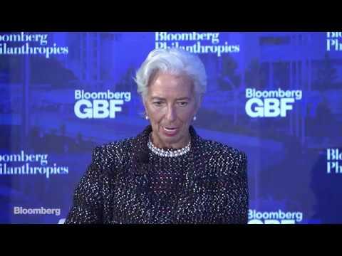 Trudeau, Rutte, Fink and Schwarzman Talk Trade with Christine Lagarde