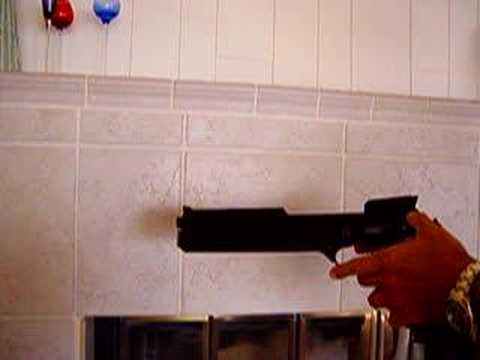 Full Auto Beretta 93R RoboCop Airsoft Pistol Video Demo