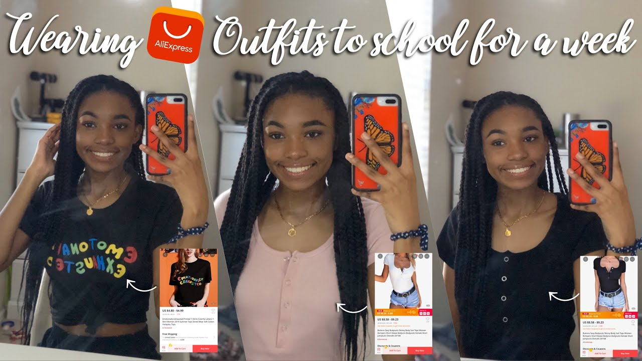 [VIDEO] – WEARING ALIEXPRESS OUTFITS TO SCHOOL FOR A WEEK/OOTW