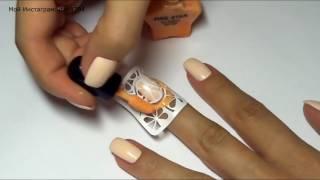 Градиент спонжем летний дизайн ногтей Апельсины!