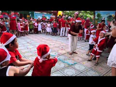 Hoạt động ngoài trời: Trò chơi kéo co - Các bé Trường Mầm Non Khánh Hội
