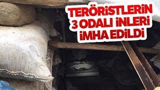 Teröristlerin 3 Odalı Sığınağı İmha Edildi