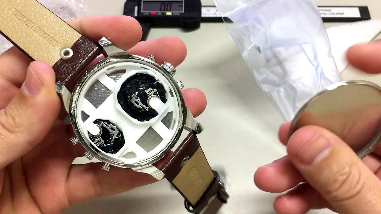 541f5ec9cd1 AliExpress Unboxing Relógio Cagarny 6820 Pulseira de Couro - YouTube