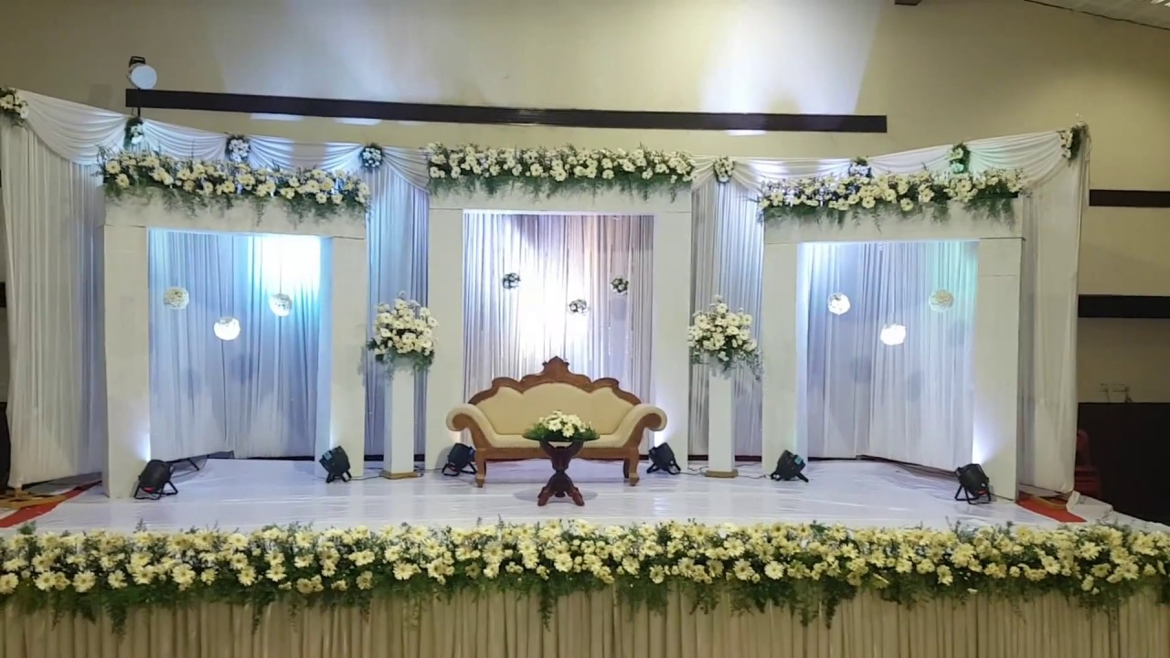 Wedding decoration in trivandrum reception wedding stage wedding decoration in trivandrum reception wedding stage decoration in sri mulam club youtube junglespirit Choice Image