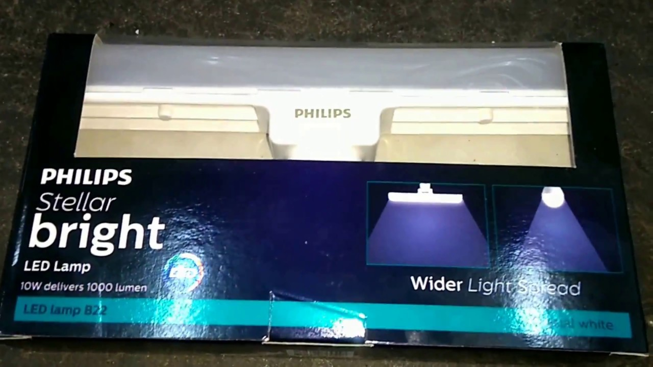 Bright Light Philips Philips Stellar B22 Bright Led Lamp 10w Unboxing And Quick Review Hindi 1080p Hd
