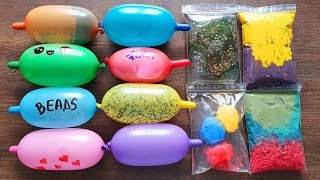 Making Slime with Funny Balloons and Slime Bags