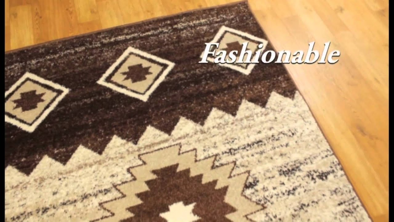 Traditional Style Navajo Tones Rugs In Brown Exclusive To Rug Zone