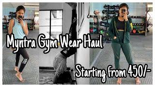 Myntra Gym Wear Haul Sports Bras Yoga Pants T-Shirts Mynta Haul Nayalooks Navya Varma