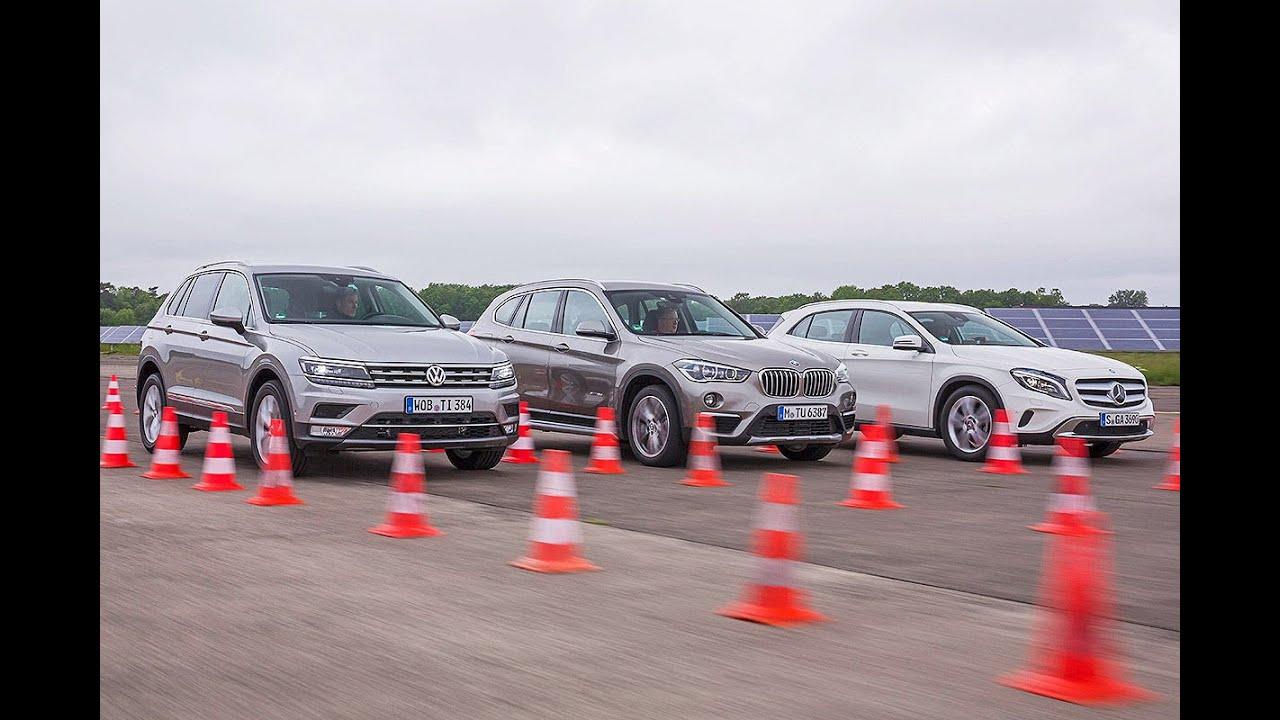 BMW X1 vs Mercedes GLA vs VW Tiguan - YouTube