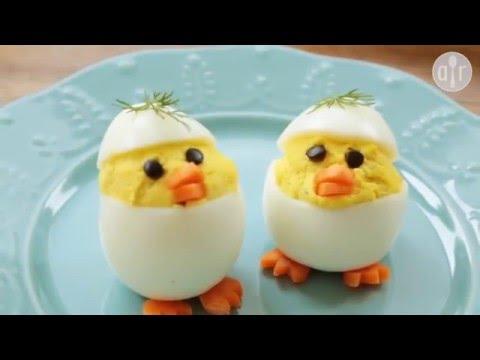 Osterküken Gefüllte Eier Für Ostern