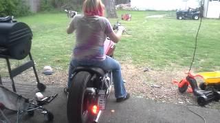 The wife riding my bike around