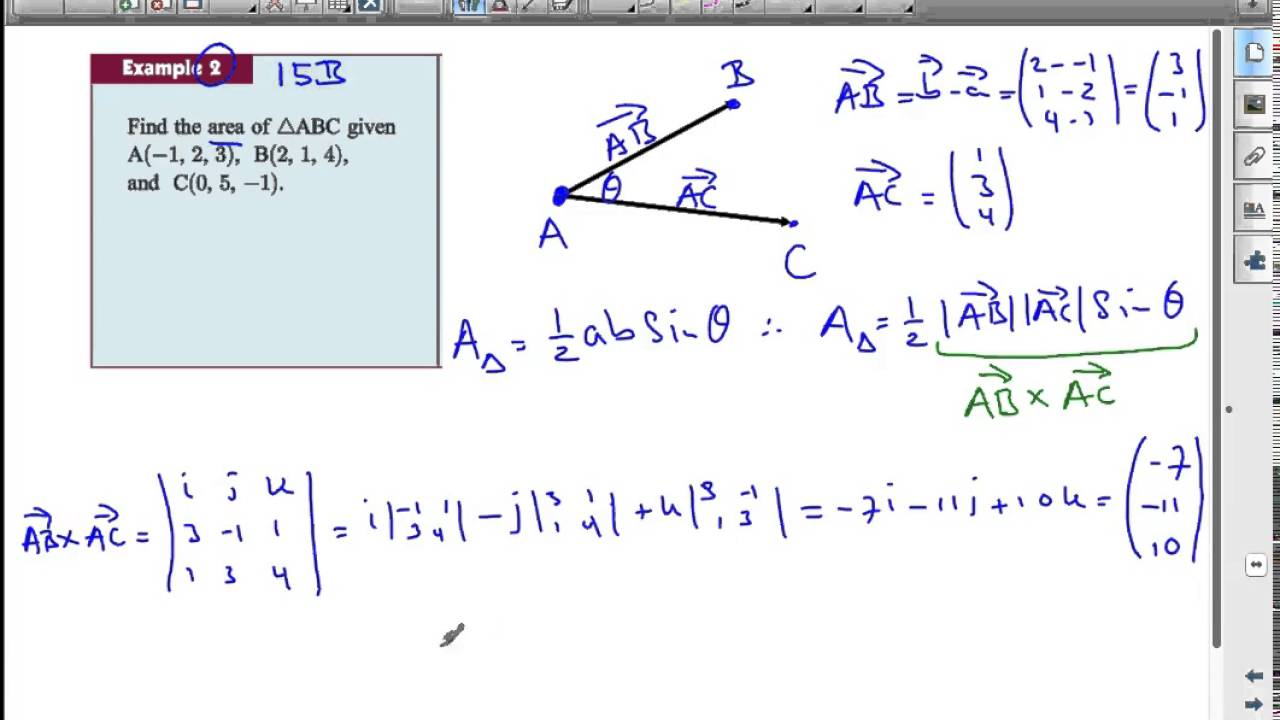 Ib vectors the area of a triangle using vectors youtube ib vectors the area of a triangle using vectors ccuart Choice Image
