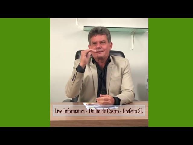 Live Duílio de Castro Prefeito de Sete Lagoas - 06-08-2020