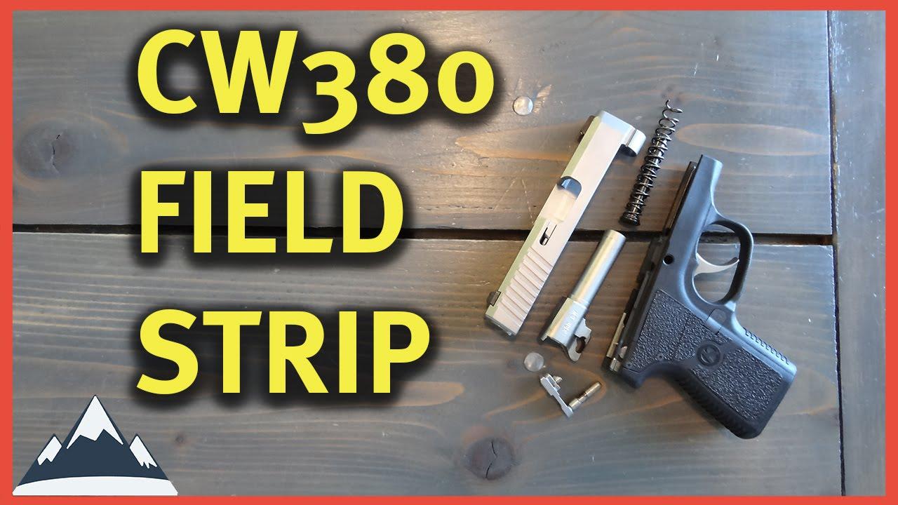 Kahr CW380 Field Strip - How to take apart CW380 - YouTube