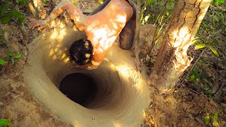 Building The Most Secret Underground House And Water Slide T...