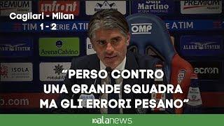 """Cagliari, Lopez: """"Perso contro una grande squadra ma gli errori pesano"""""""