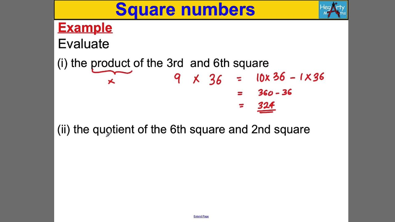 What is Square Square is 98