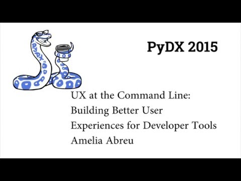 Image from PyDX 2015: UX at the Command Line: Building Better User Experiences for Developer Tools