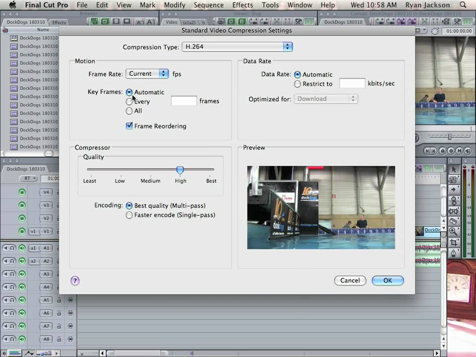 Final Cut Pro Express Export 720p video for Youtube or Vimeo - YouTube