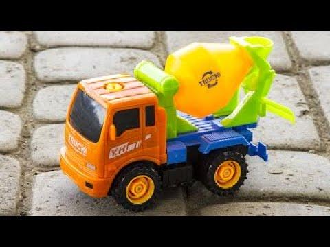 New Cement Mixer Truck Car Construction for Kids Real Trucks For Children
