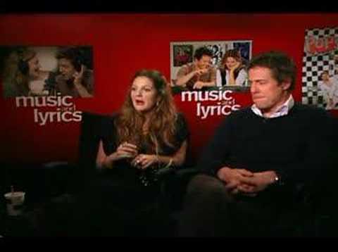 Hugh Grant Drew Barrymore interview or Music and Lyrics