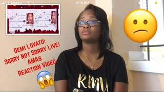 Demi Lovato| Sorry Not Sorry Live| AMA Reaction Video