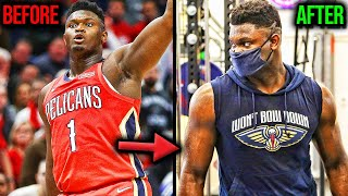 Zion Williamson loses 20 lbs and is RIPPED! Future NBA MVP?
